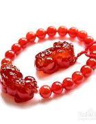 红玛瑙貔貅手链佩戴方法或注意事项