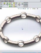solidworks创建轴承滚珠支架的技巧