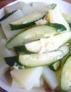 怎么做好吃可口的拌刺瓜凉粉--美女减肥菜肴