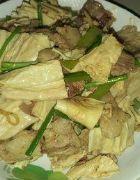 腐竹炒肉片怎么做