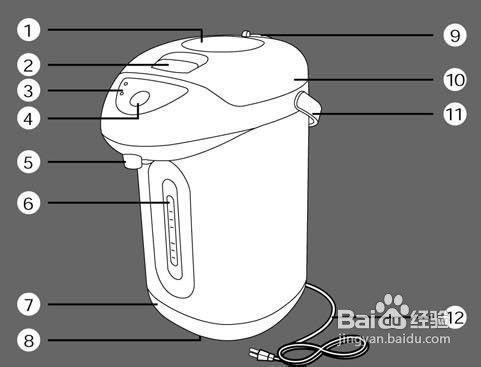 [说明书]声宝KP-HA33型电热水瓶