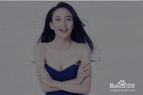 photoshop运用技巧:[19]给照片添加电视纹理