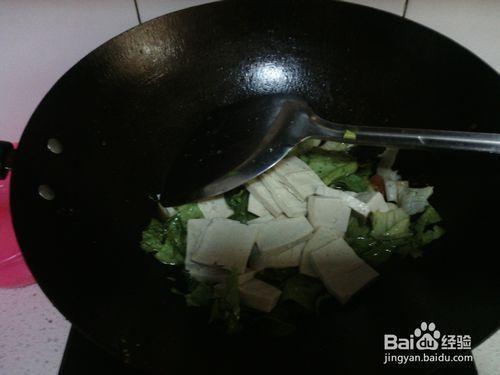 番茄豆腐炒生菜