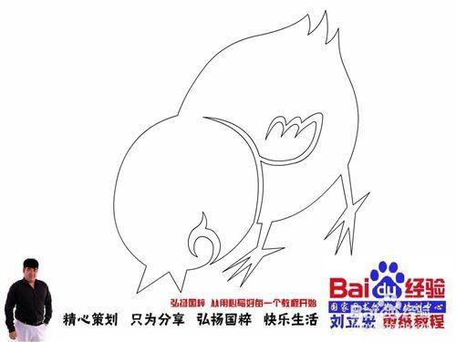 刘立宏十二生肖卡通剪纸 鸡127