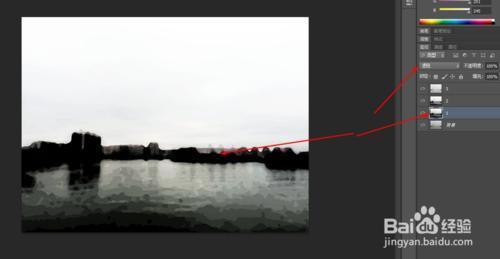 Photoshop制作水墨画的照片