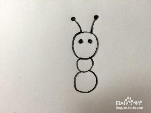 教你画超级简单的蚂蚁