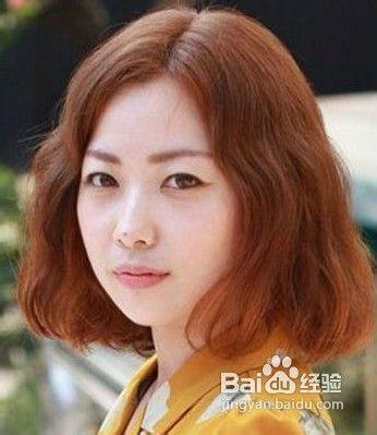 经验 适合圆脸的发型图片  传统的波波头会有一点厚重感,圆脸女生一般