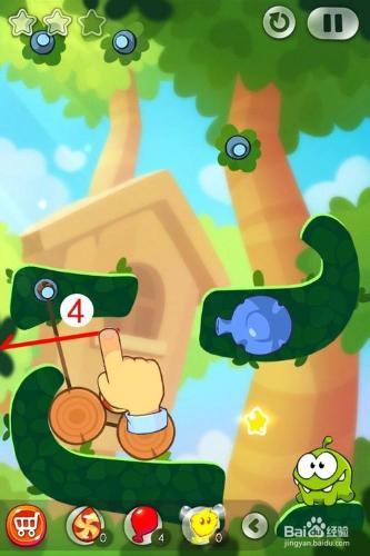 割绳子2满星攻略图:[6]第26至30关森林攻略