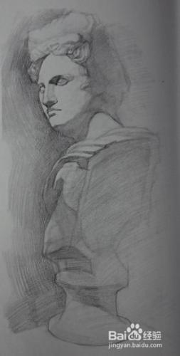 素描石膏酒神的画法